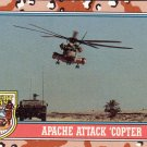 Desert Storm Trading Card Topps 1991 2nd Series Apache Attack Copter