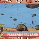 Desert Storm Trading Card Topps 1991 2nd Series Paratroopers Land