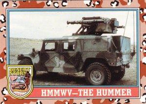 Desert Storm Trading Card Topps 1991 2nd Series HMMWV The Hummer