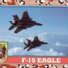 Desert Storm Topps 1991 Trading Card 2nd Series F15 Eagle