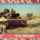 Desert Storm Topps 1991 Trading Card 2nd Series M551 Sheridan