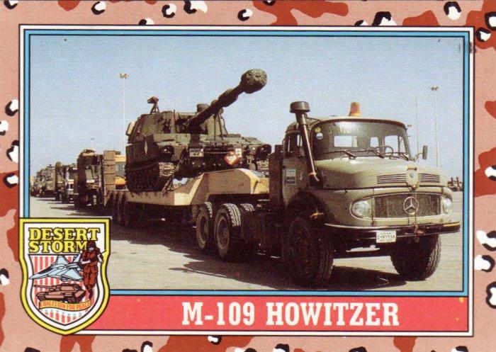 Desert Storm Topps 1991 Trading Card 2nd Series M109 Howitzer