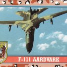 Desert Storm Topps 1991 Trading Card 2nd Series F111 Aardvark