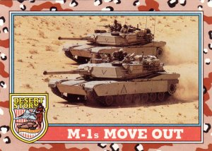 Desert Storm Topps 1991 Trading Card 2nd Series M1s Move Out