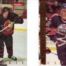 Hockey Rookie Trading Cards Lot of 2 Daniel Alfredsson, Kiroslav Satan Skybox 1995-96