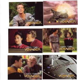 Star Trek Voyager Trading Cards 1995  Cards 4 - 9