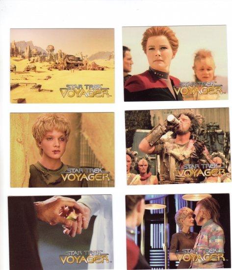 Star Trek Voyager Trading Cards 1995  Cards #47 - 52