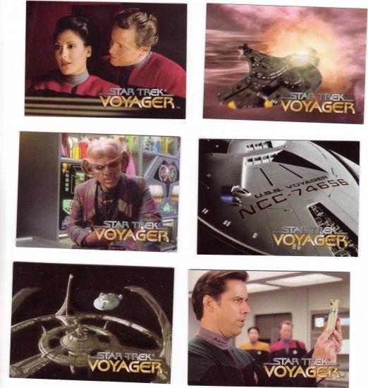Star Trek Voyager Trading Cards 1995  Cards #4, 7, 8, 10, 11, 14
