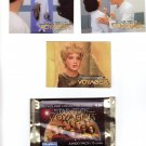 Star Trek Voyager Trading Cards 1995  Cards #43, 44, 50 & Wrapper