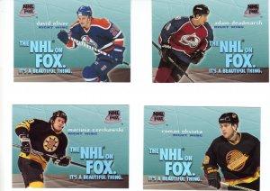 Trading Cards 95/96 SKYBOX Hockey 4 INSERTS NHL on FOX