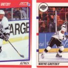 Wayne Gretzky LA Kings Score Hockey Trading Cards 90 91