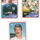 New York Yankees Baseball Trading Cards Lot of 3 Topps 1989