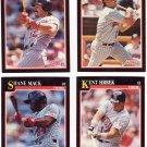 Baseball Trading Cards Minnesota Twins Lot of 4 Score 1991