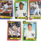 Baseball Trading Cards New York Yankees Topps 1990 Lot of 5