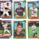 Baseball Trading Cards California Angels Topps 1990 Lot of 6