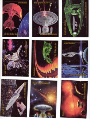 Star Trek Trading Cards Skybox 1993 Cards #20, 21, 22, 34, 35, 37, 39, 40, 43