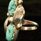 Navajo Sterling and Turquoise Ladies Ring SZ. 7 - 7.5
