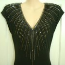 Vintage 1980's Nuit for I Magnin Black Evening Dress, Size 10