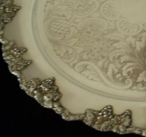 Vintage Crescent Silver MFG. Co. Silverplate Serving Tray