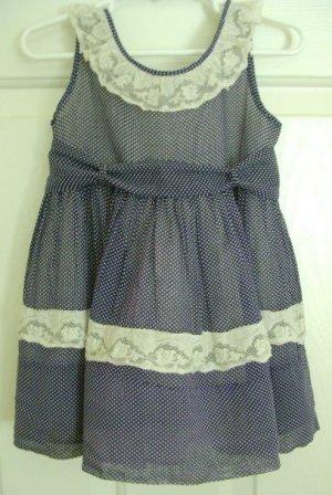 Vintage 1960's Helen Lee Toddler Girls Pinafore Dress, 2-3T