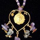 Artisan Sun & Heart Beaded Necklace