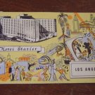 Hotel Statler, Los Angeles, CA., Linen Postcard Post Card, Used, 1955