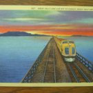 Great Salt Lake Cut-Off, Utah, Linen Postcard Post Card, Unused, 1950's