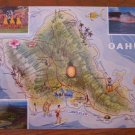 Island Of Oahu, Territory of Hawaii, Kodachrome Postcard Post Card, Unused, Large Format. 1940's