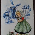 Dutch Girl Holding Kitten Post Card Postcard, Unused