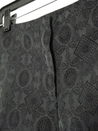 City DNKY Black Paisley Low-Rise Pants / Slacks, Size 6