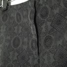 City DNKY Black Paisley Low-Rise Pants / Slacks, Size 6