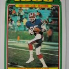 1988 Topps 1000 Yard Club Football Card, Christ Burkett, Buffalo Bills