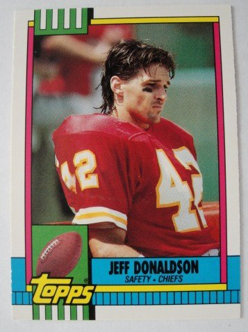 1990 Topps, Football Card, Jeff Donaldson,  Kansas City Chiefs