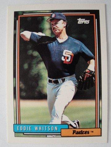 1992 Topps,, Baseball Card, Eddie Whitson, Padres