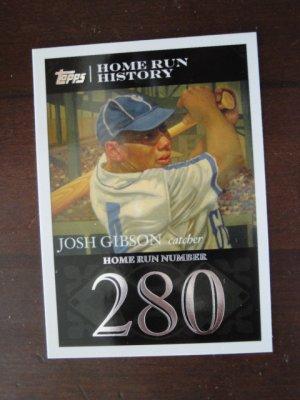 2007 Topps Home Run  History Baseball Card, Josh Gibson, Crawfords / Grays
