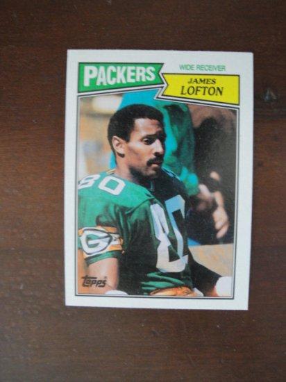 1987 Topps Football Card, James Lofton, Packers