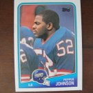 1988 Topps Football Card, Pepper Johnson, NY Giants