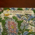 Vintage Kendall Design Chintz Table Runner / Fabric