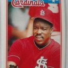 1988 Topps Mini Baseball Card, Vince Coleman, St. Louis Cardinals