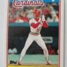 1988 Topps Mini Baseball Card, Willie McGee, St. Louis Cardinals