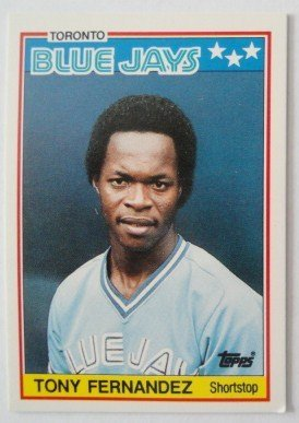 1988 Topps Mini Baseball Card, Tony Fernandez, Blue Jays