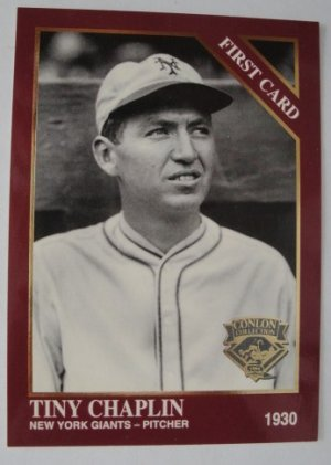 1994 Conlon First Card, Tiny Chaplin, New York Giants