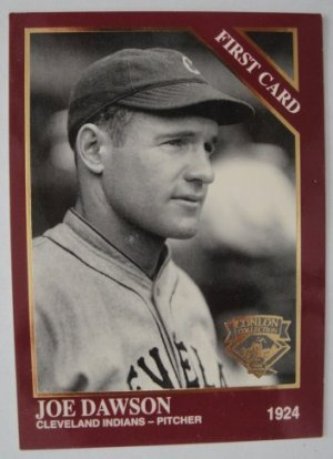 1994 Conlon First Card, Joe Dawson, Cleveland Indians
