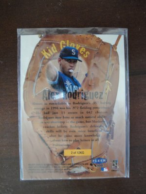 1997 Fleer Kid Gloves Baseball Card, Alex Rodriguez, Seattle Mariners