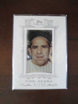 2007 Topps Sterling White Suede Baseball Card, Yogi Berra, New York Yankees