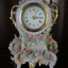 Rare Vintage Porcelain Wind-Up Shelf / Mantle Clock, Beebe California, 1940's