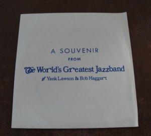 Vintage 1974 The World's Greatest Jazzband of Yank Lawson & Bob Haggart Souvenir 45 RPM