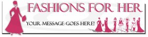 Custom Web Site Header - Fashions For Her In Pink - OOAK