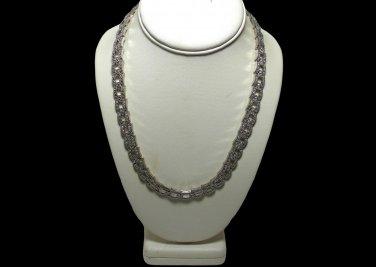 Kenneth Jay Lane Art Deco Pave Rhinestone Necklace for Avon Exc