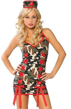 LC8239 Sexy Army Nurse Costume